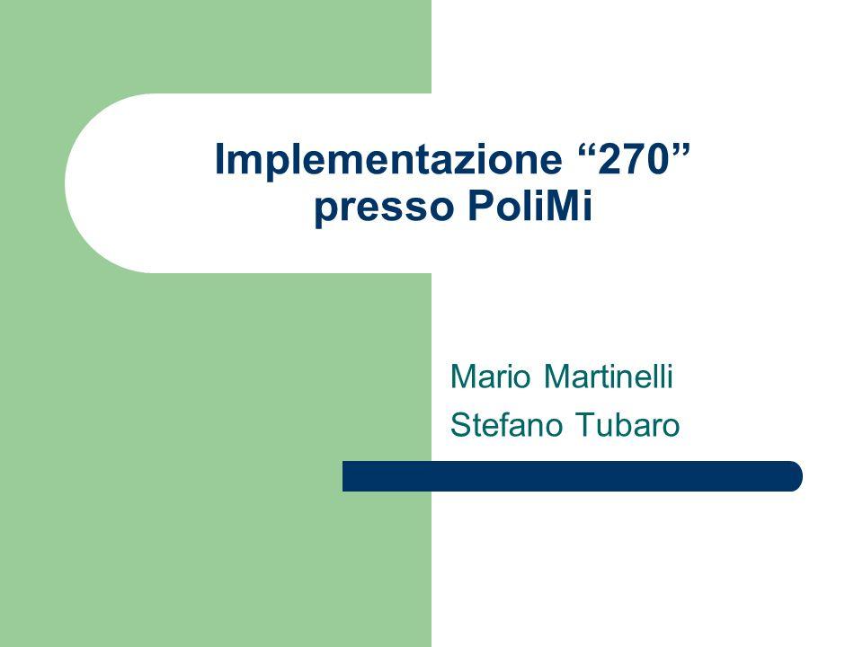 Implementazione 270 presso PoliMi