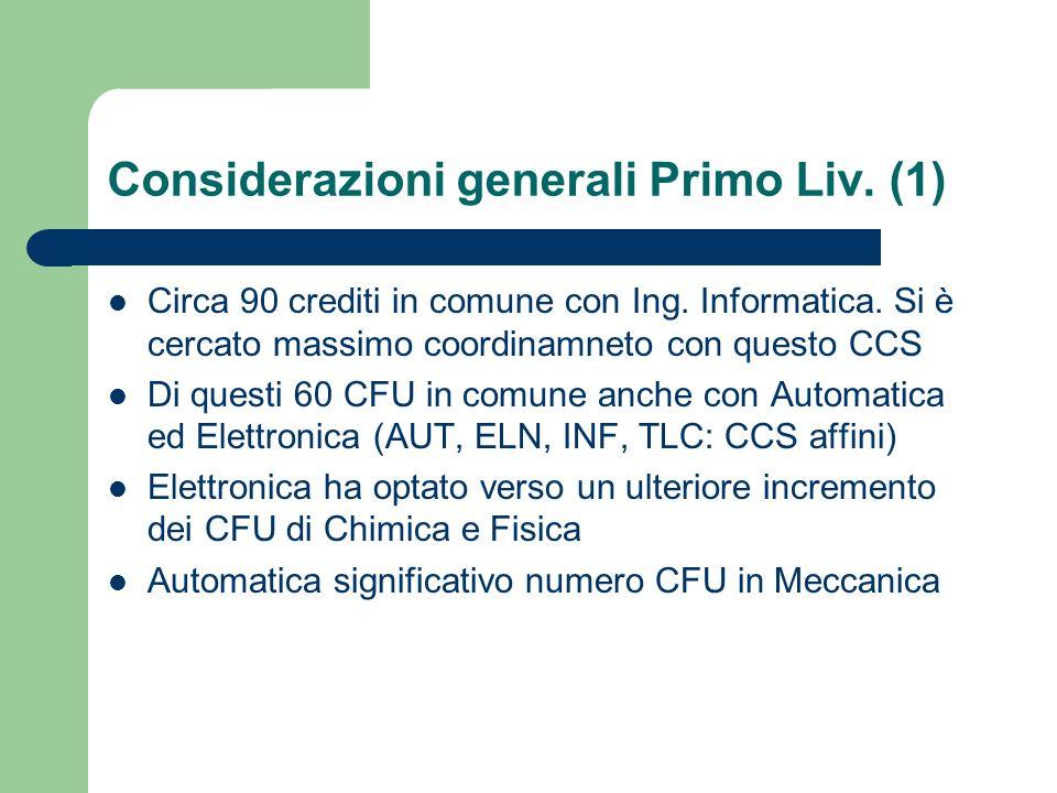 Considerazioni generali Primo Liv. (1)