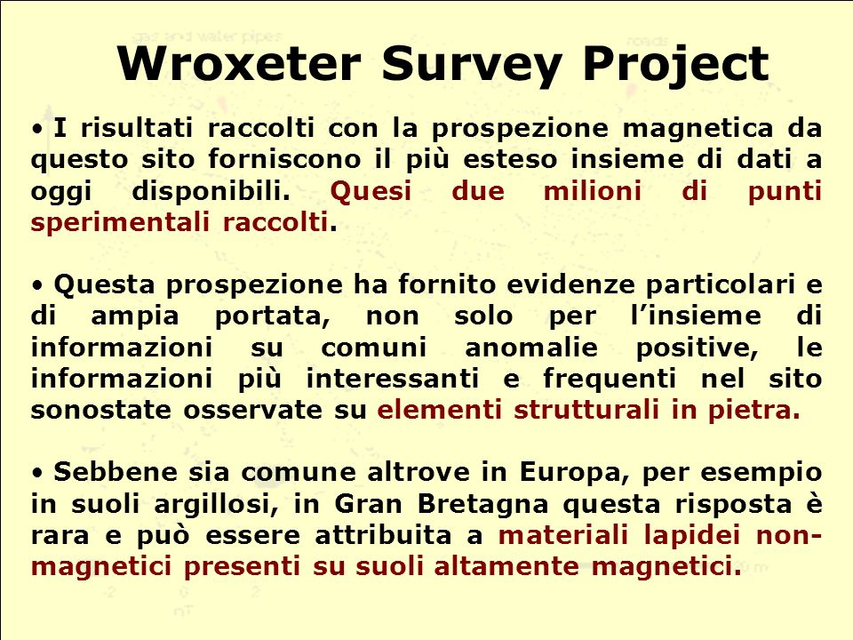 Wroxeter Survey Project