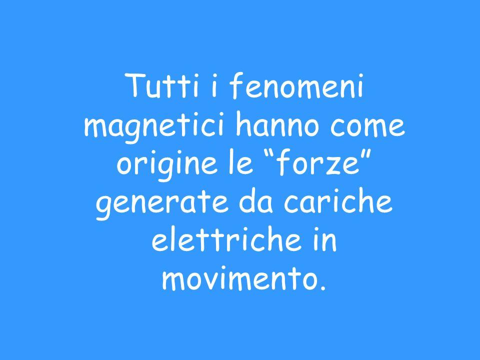 Tutti i fenomeni magnetici hanno come origine le forze generate da cariche elettriche in movimento.