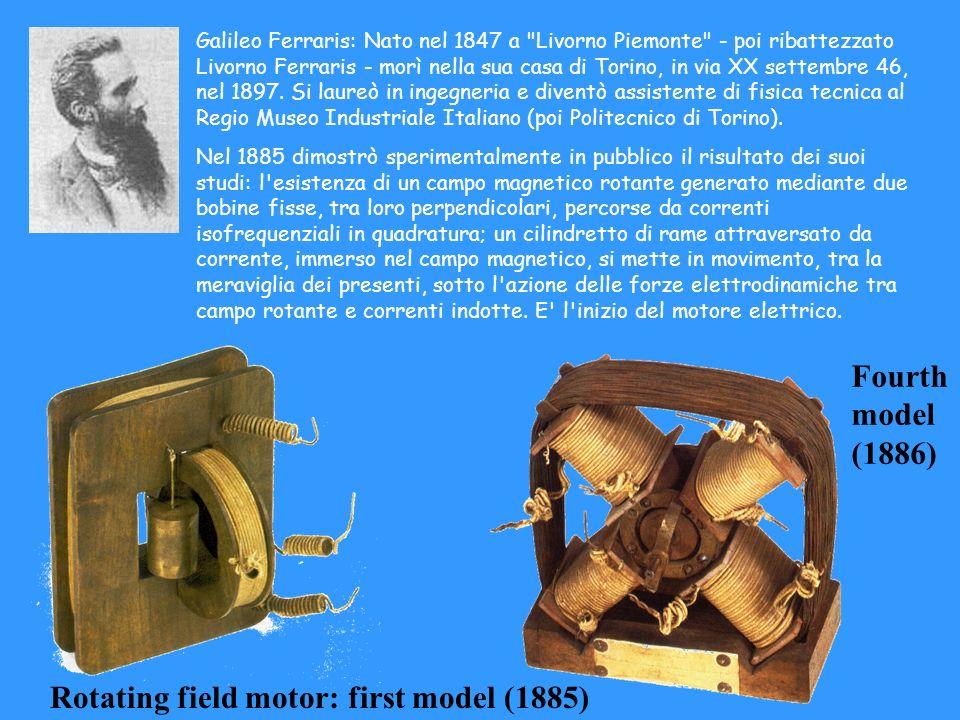 Rotating field motor: first model (1885)