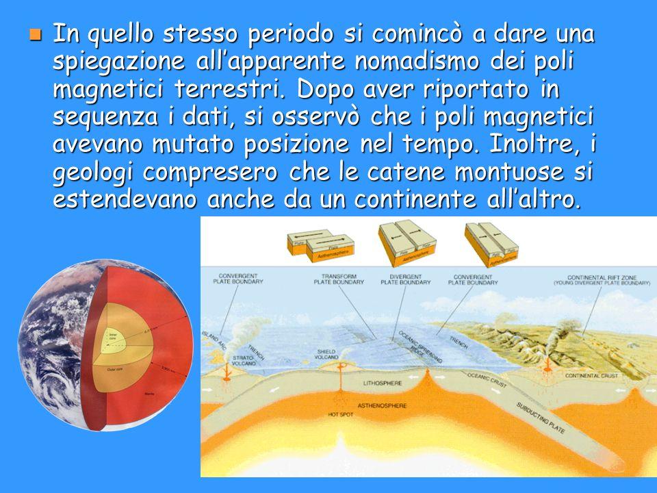 In quello stesso periodo si comincò a dare una spiegazione all'apparente nomadismo dei poli magnetici terrestri.