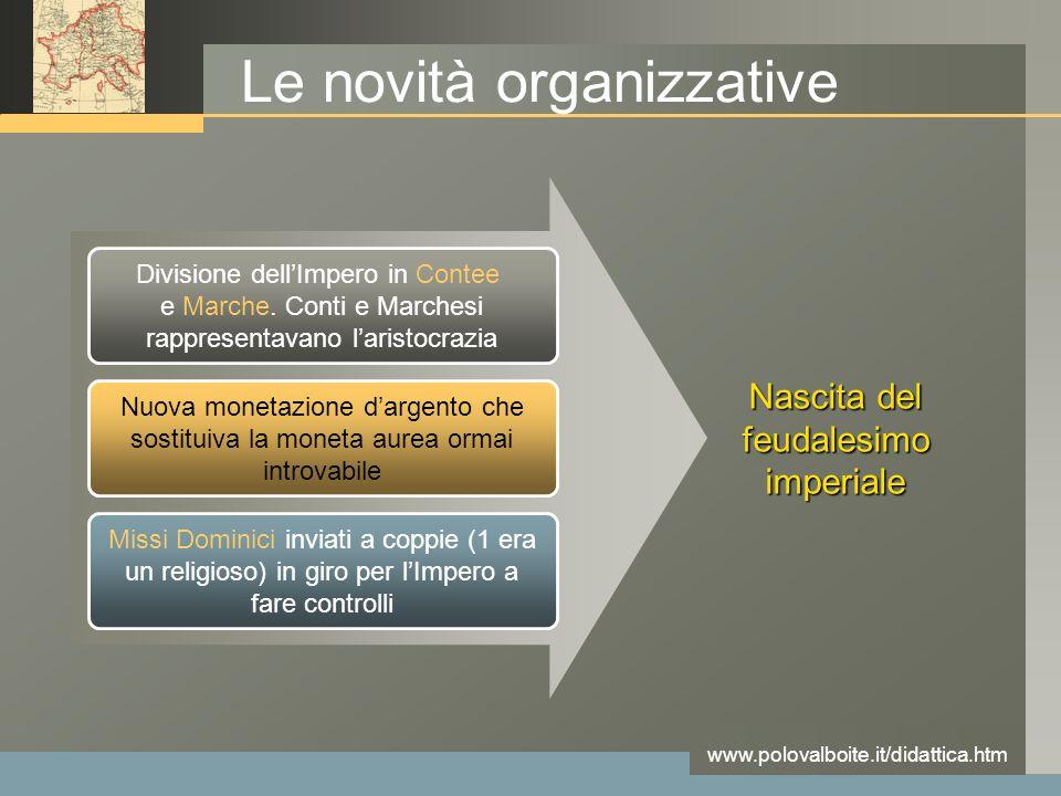 Le novità organizzative