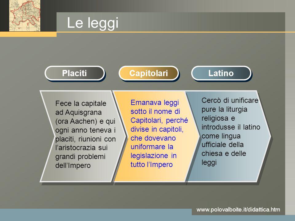Le leggi Placiti Capitolari Latino