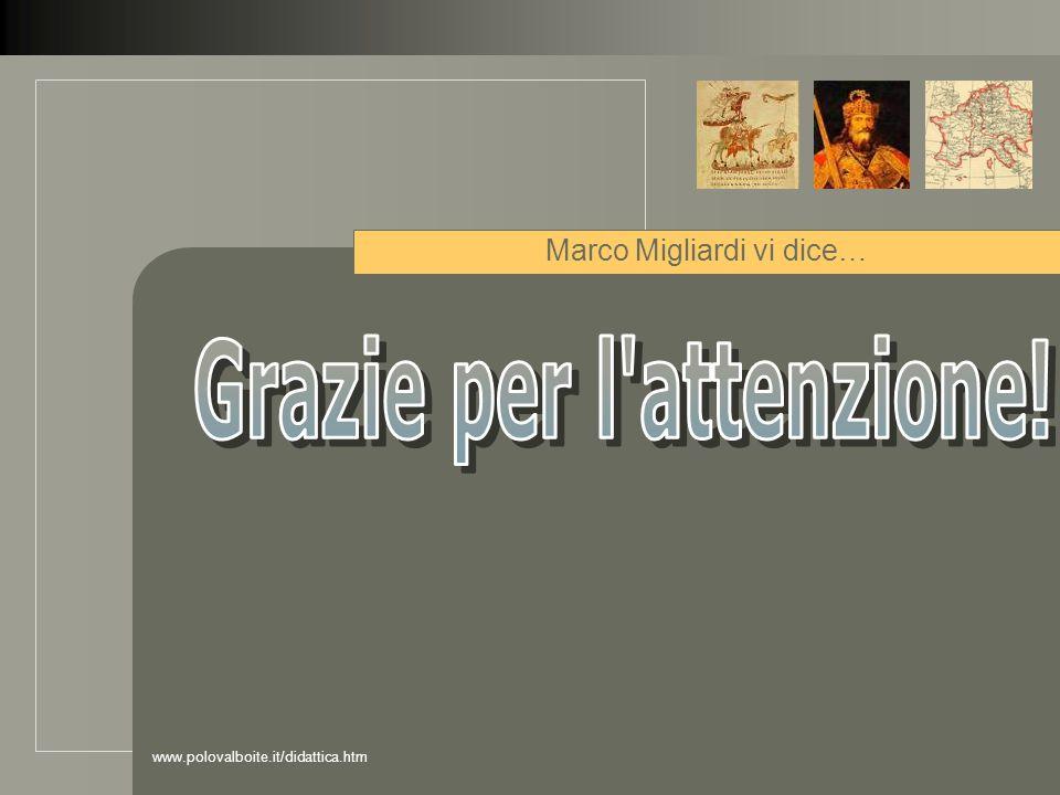 Marco Migliardi vi dice…