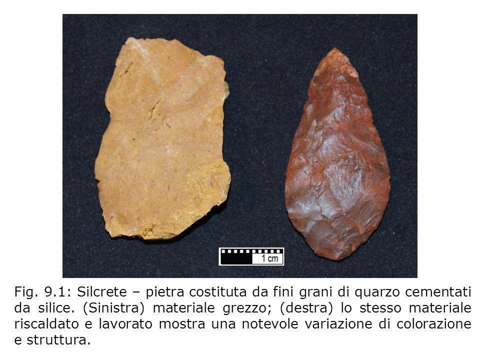 Fig. 9.1: Silcrete – pietra costituta da fini grani di quarzo cementati da silice.