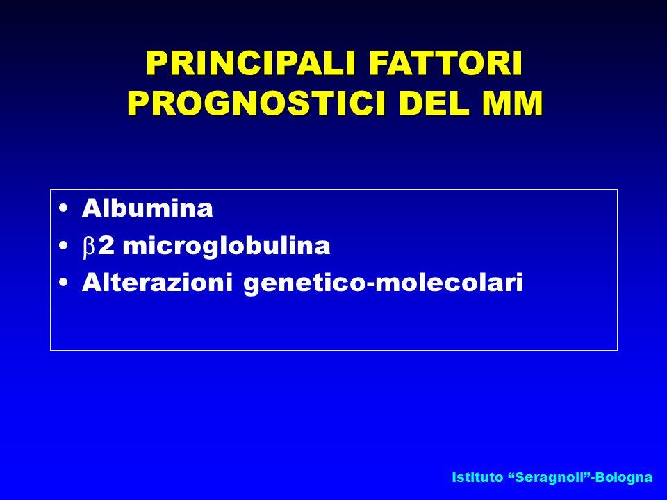 PRINCIPALI FATTORI PROGNOSTICI DEL MM