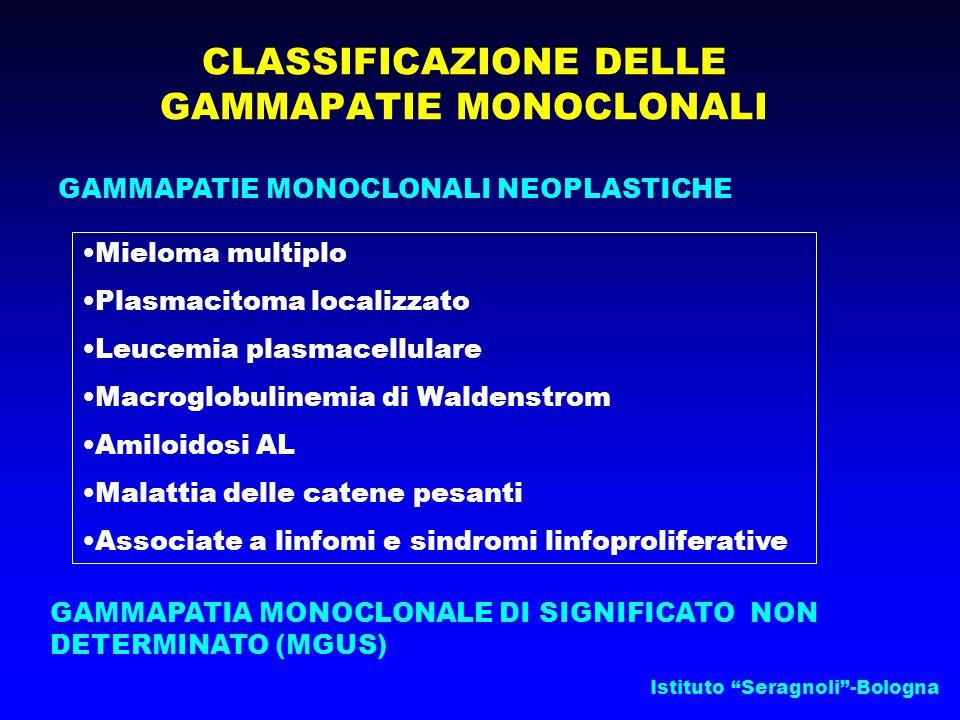 CLASSIFICAZIONE DELLE GAMMAPATIE MONOCLONALI