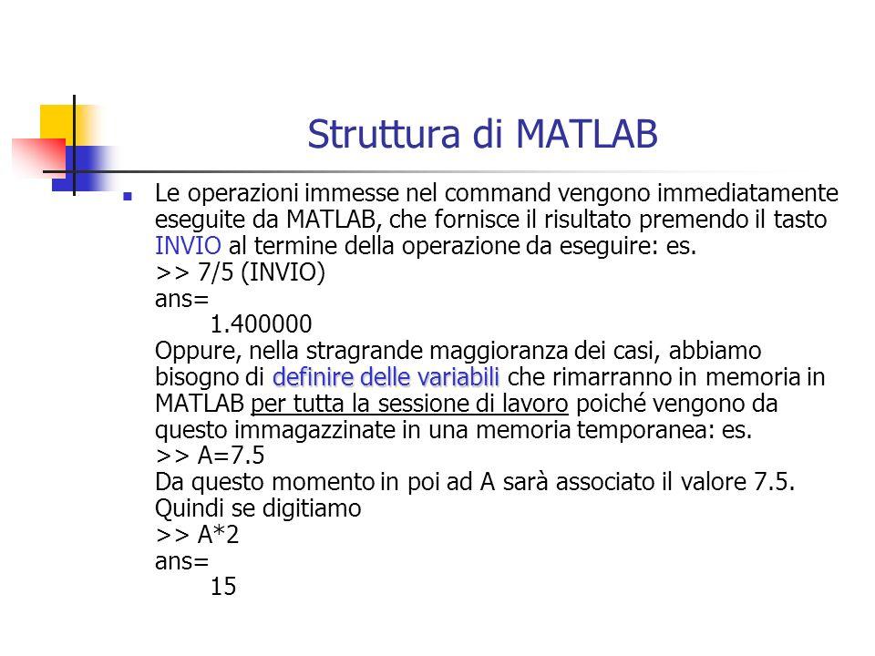 Struttura di MATLAB