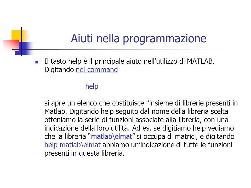 Aiuti nella programmazione
