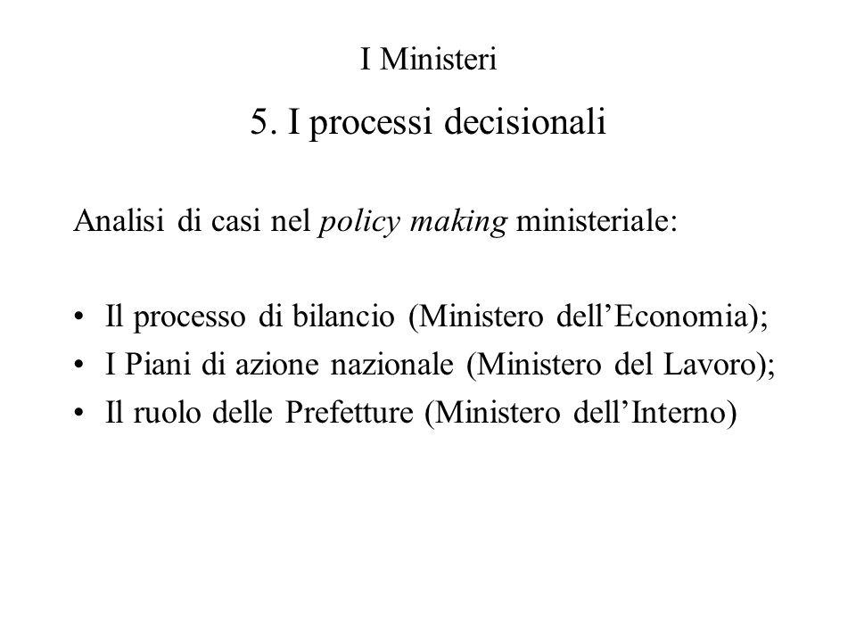 5. I processi decisionali