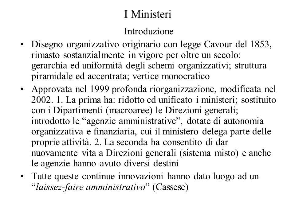 I Ministeri Introduzione