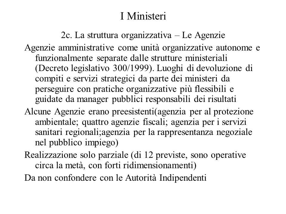 2c. La struttura organizzativa – Le Agenzie