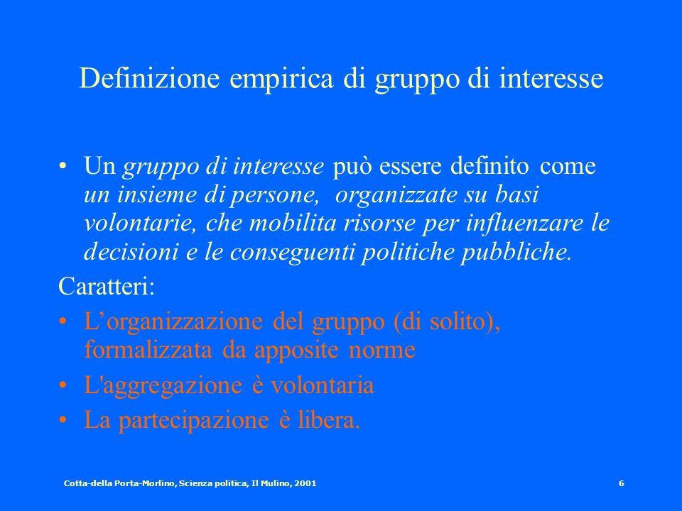 Definizione empirica di gruppo di interesse