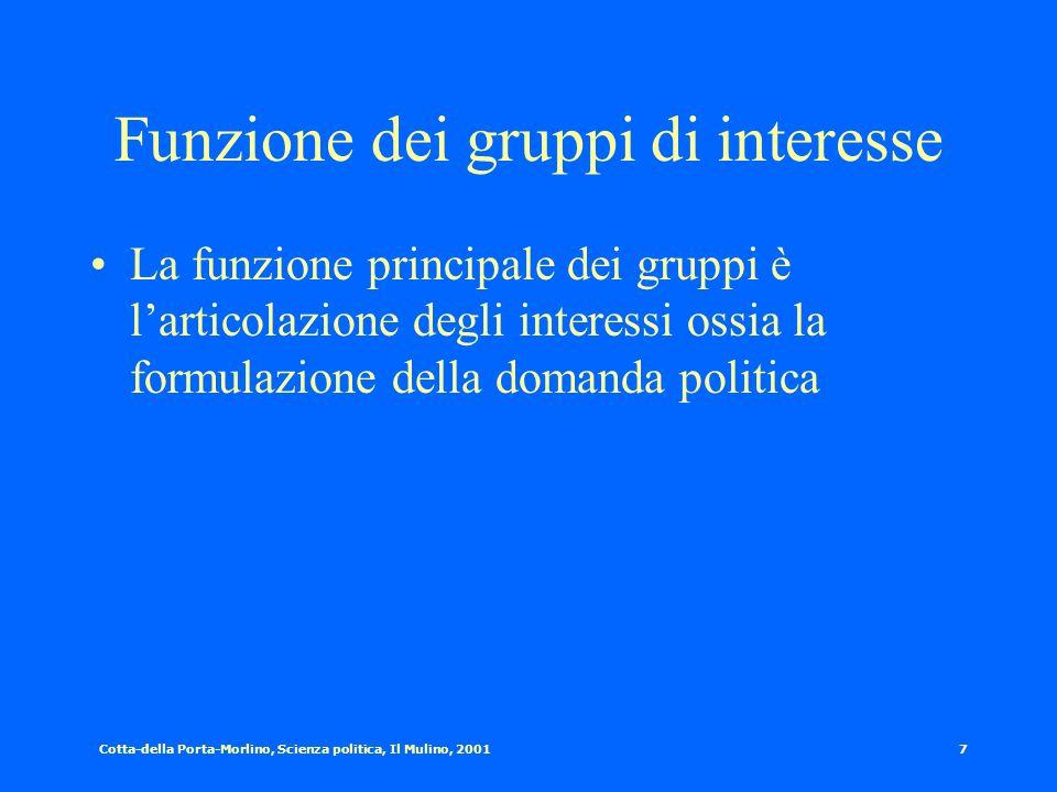 Funzione dei gruppi di interesse