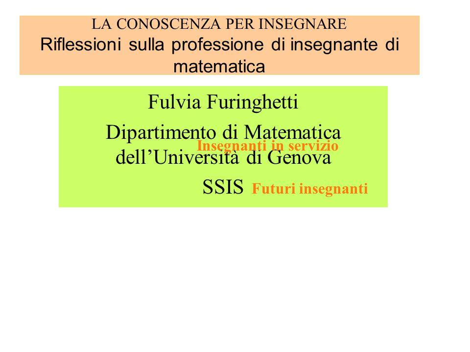 Dipartimento di Matematica dell'Università di Genova