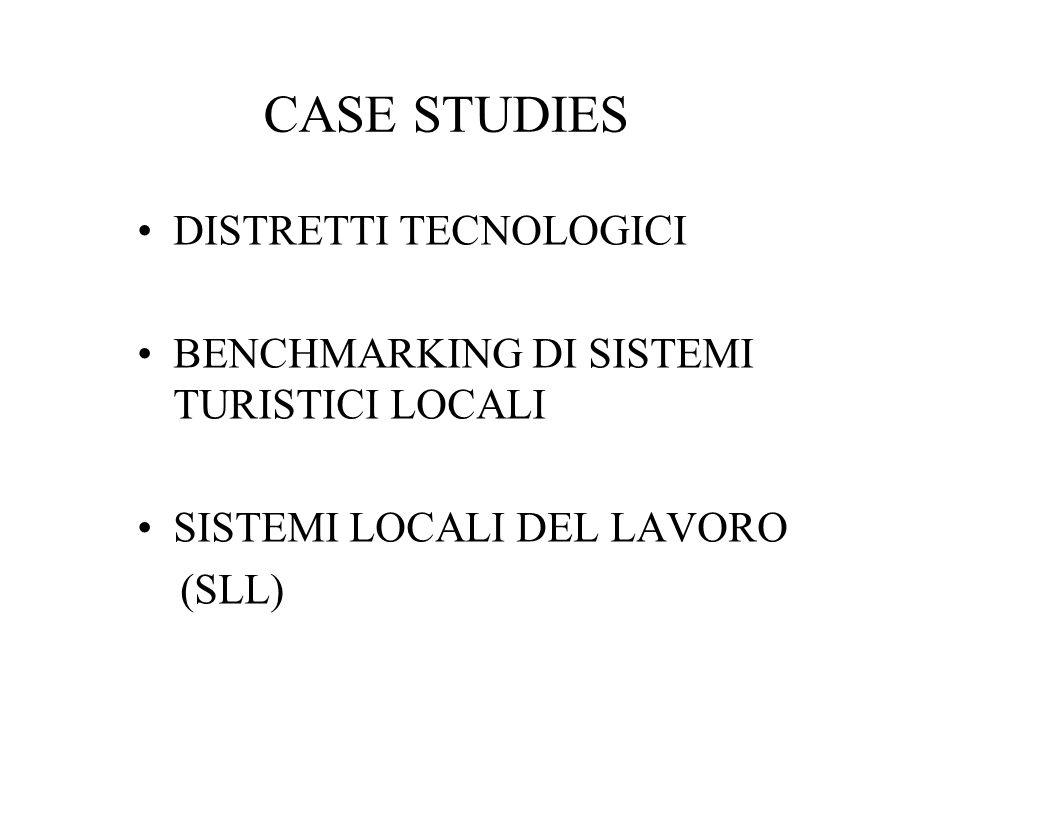CASE STUDIES DISTRETTI TECNOLOGICI