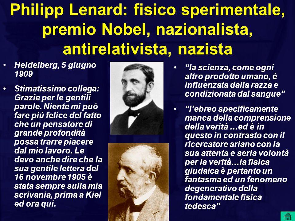 Philipp Lenard: fisico sperimentale, premio Nobel, nazionalista, antirelativista, nazista