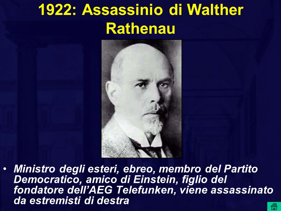 1922: Assassinio di Walther Rathenau
