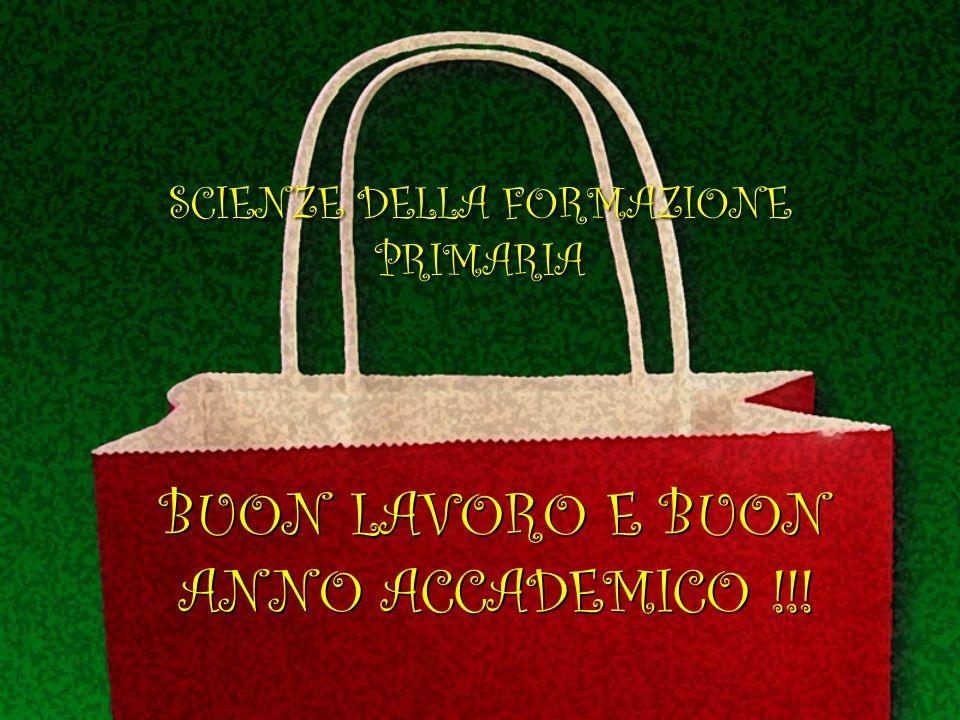 BUON LAVORO E BUON ANNO ACCADEMICO !!!