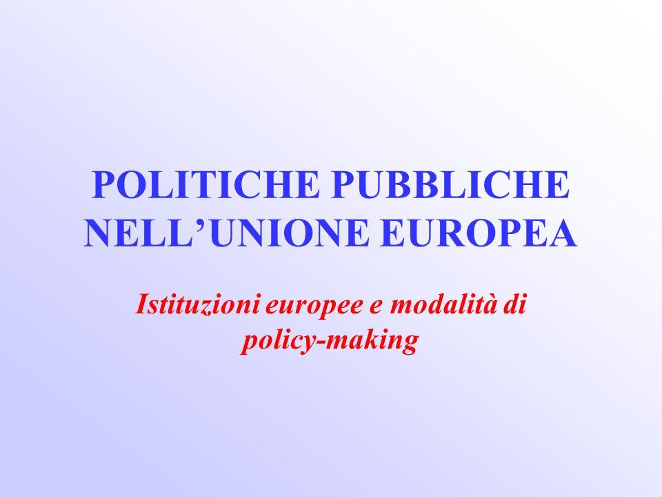 POLITICHE PUBBLICHE NELL'UNIONE EUROPEA