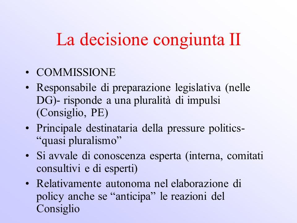La decisione congiunta II
