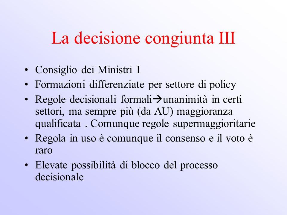 La decisione congiunta III