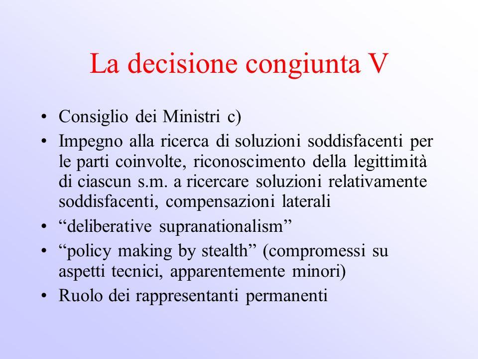 La decisione congiunta V