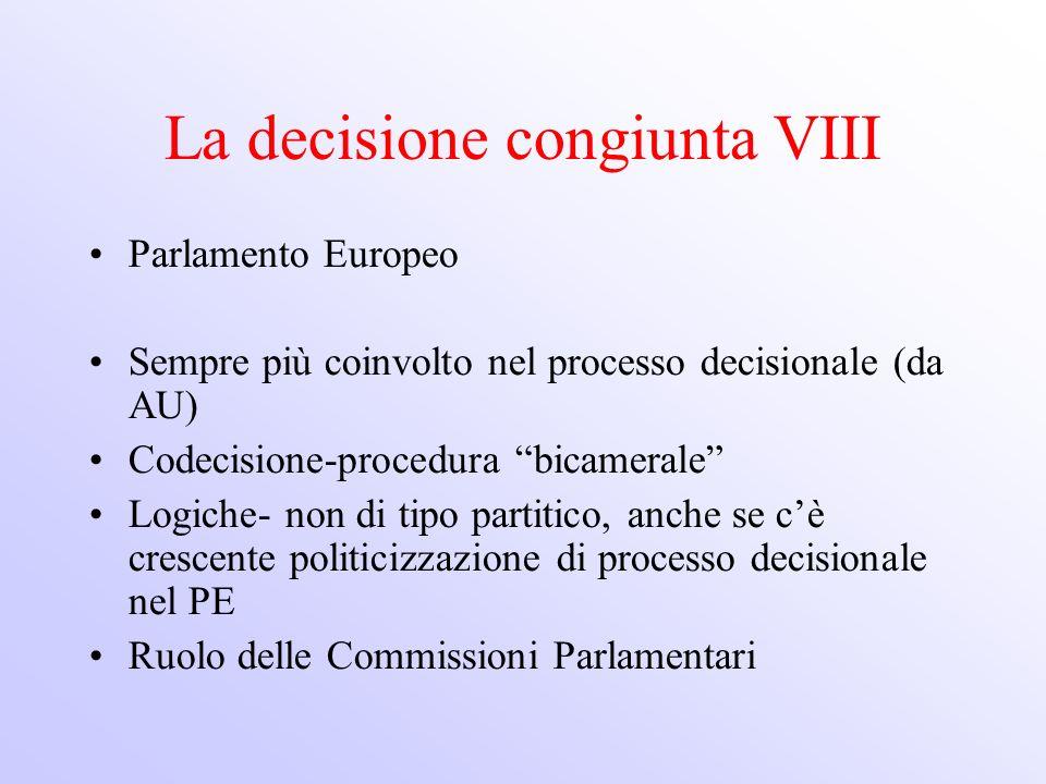 La decisione congiunta VIII