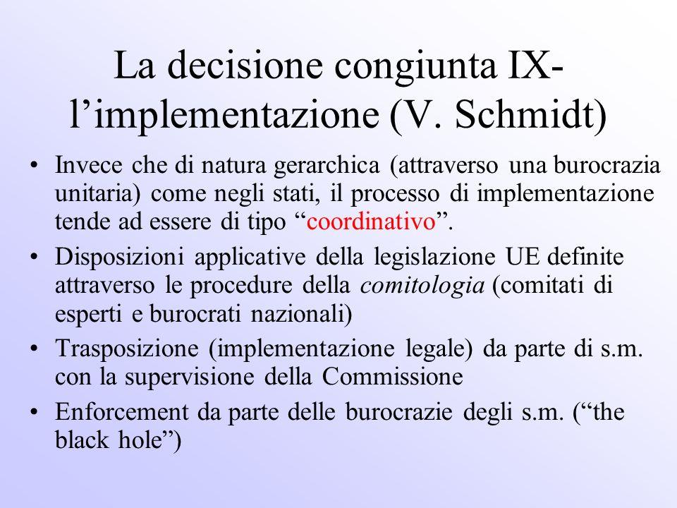 La decisione congiunta IX-l'implementazione (V. Schmidt)
