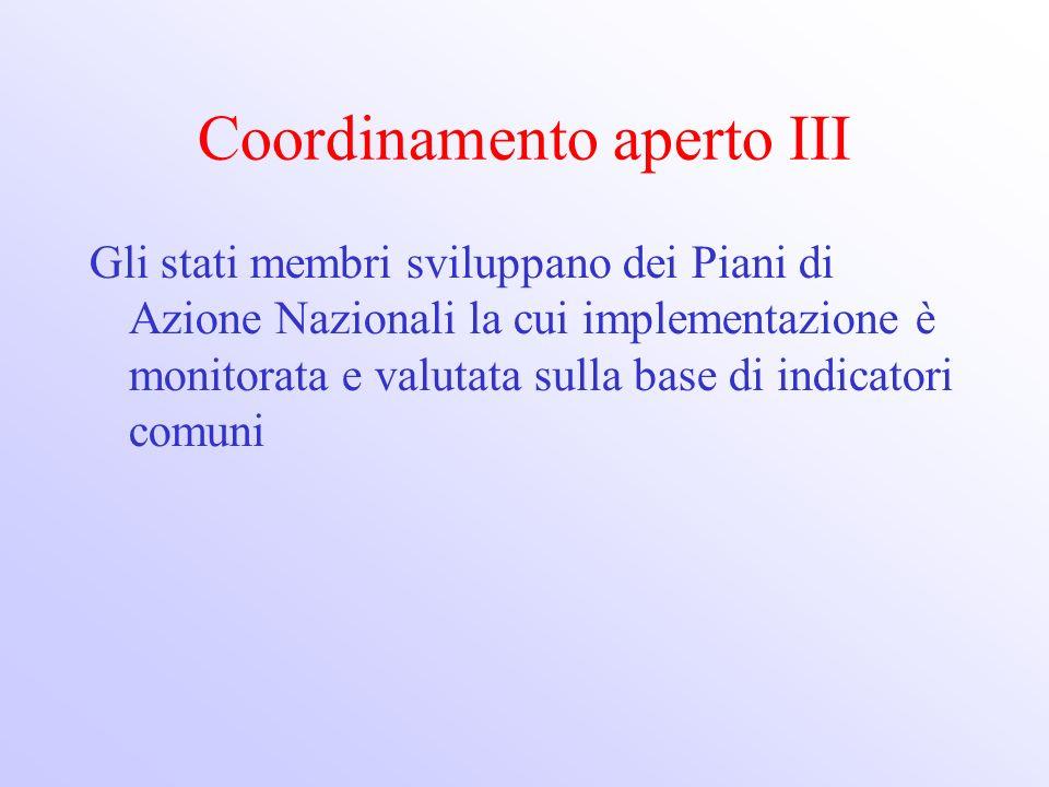 Coordinamento aperto III