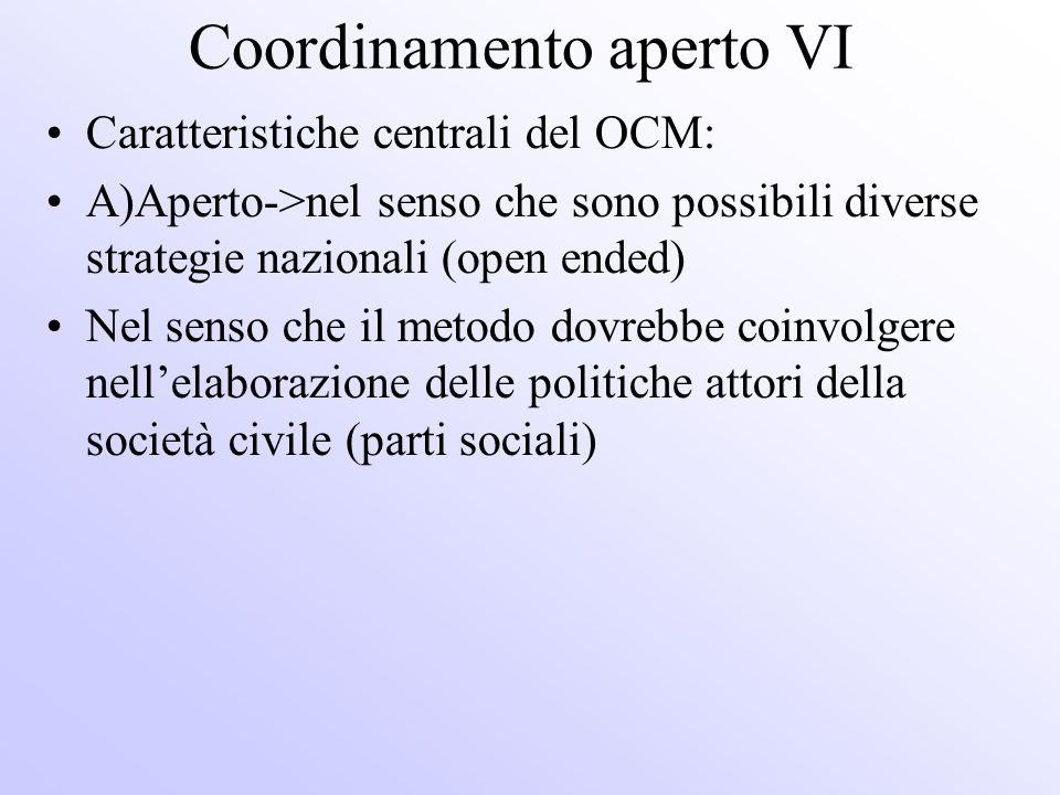 Coordinamento aperto VI