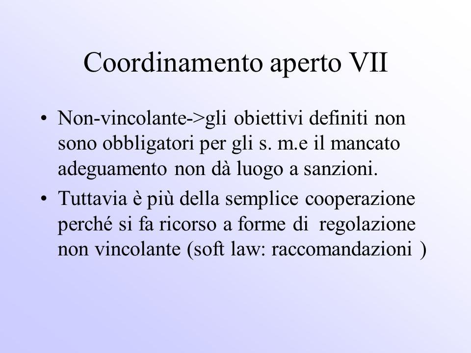 Coordinamento aperto VII