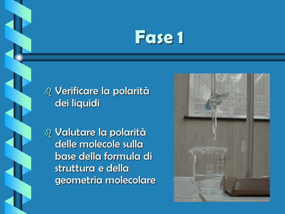 Fase 1 Verificare la polarità dei liquidi