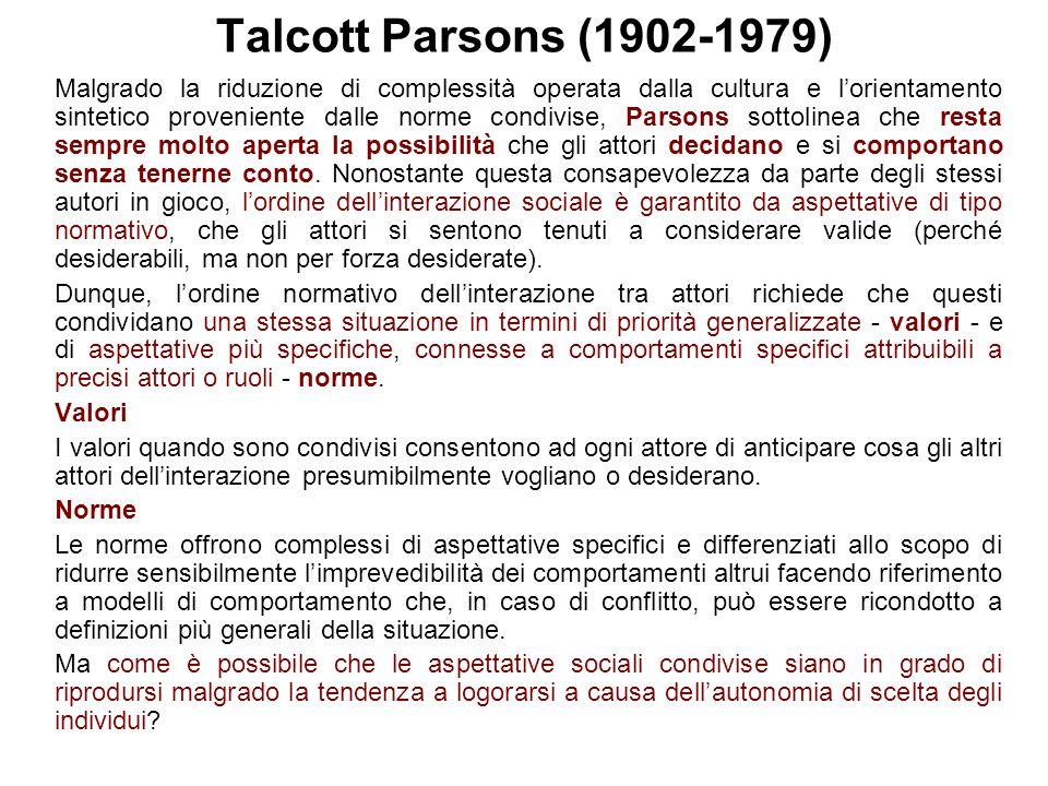 Talcott Parsons (1902-1979)
