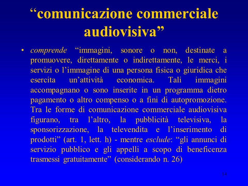 comunicazione commerciale audiovisiva
