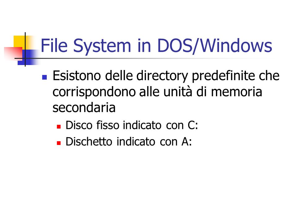 File System in DOS/Windows