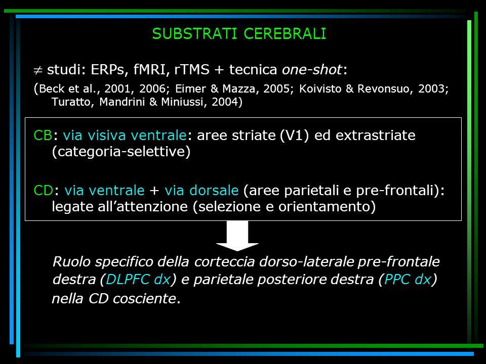  studi: ERPs, fMRI, rTMS + tecnica one-shot: