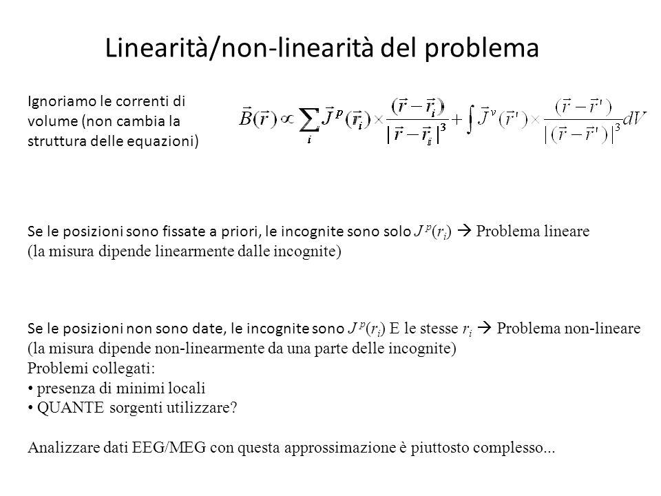 Linearità/non-linearità del problema