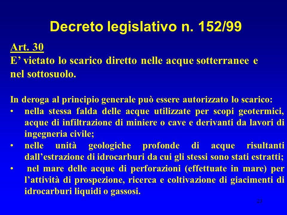 Decreto legislativo n. 152/99