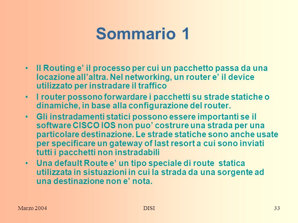 Sommario 1