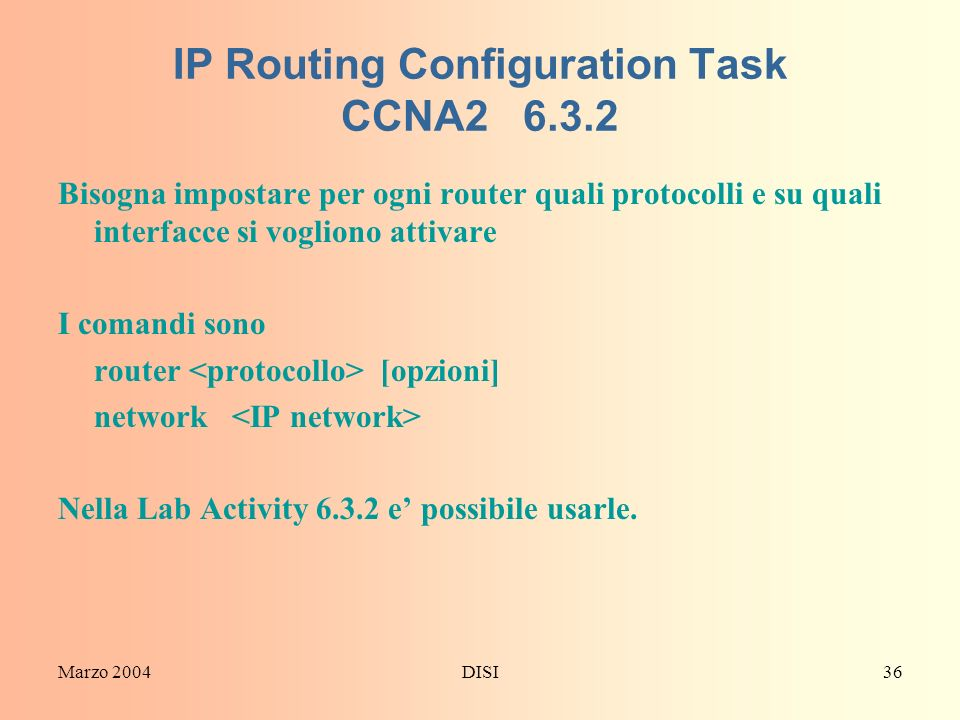 IP Routing Configuration Task CCNA