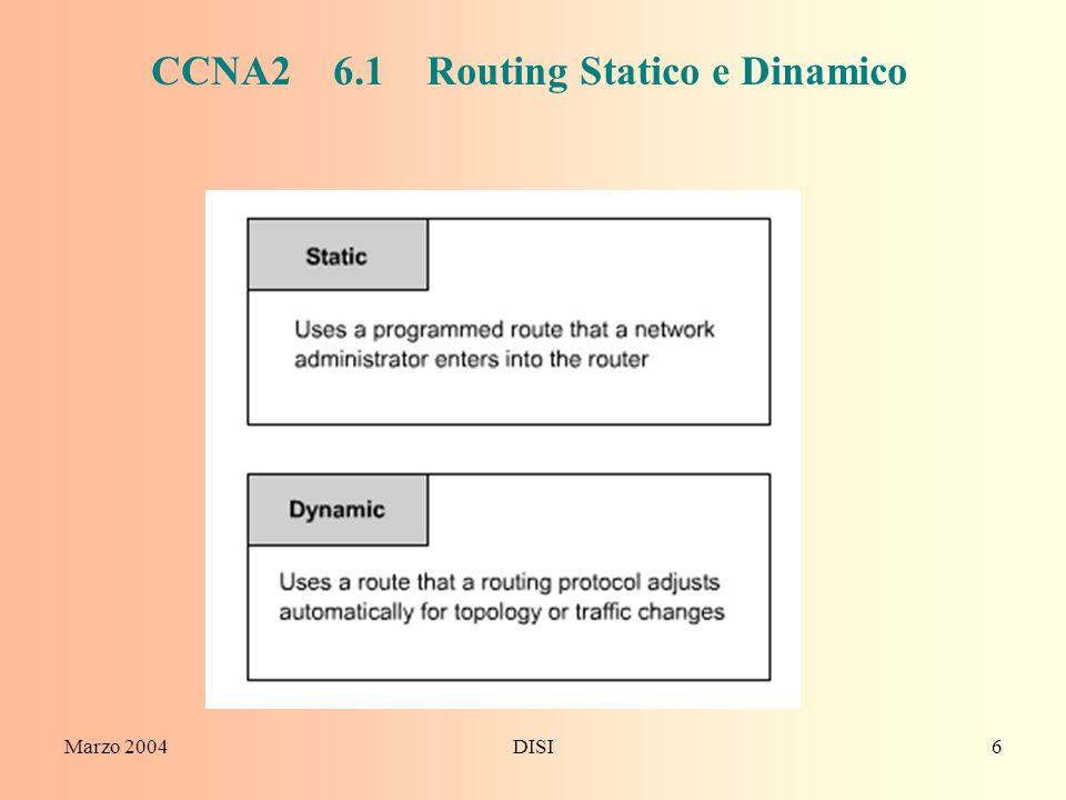 CCNA2 6.1 Routing Statico e Dinamico