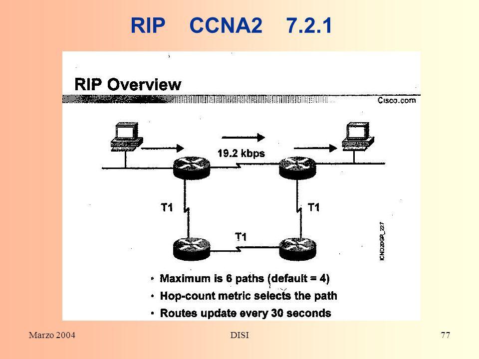 RIP CCNA2 7.2.1 Marzo 2004 DISI