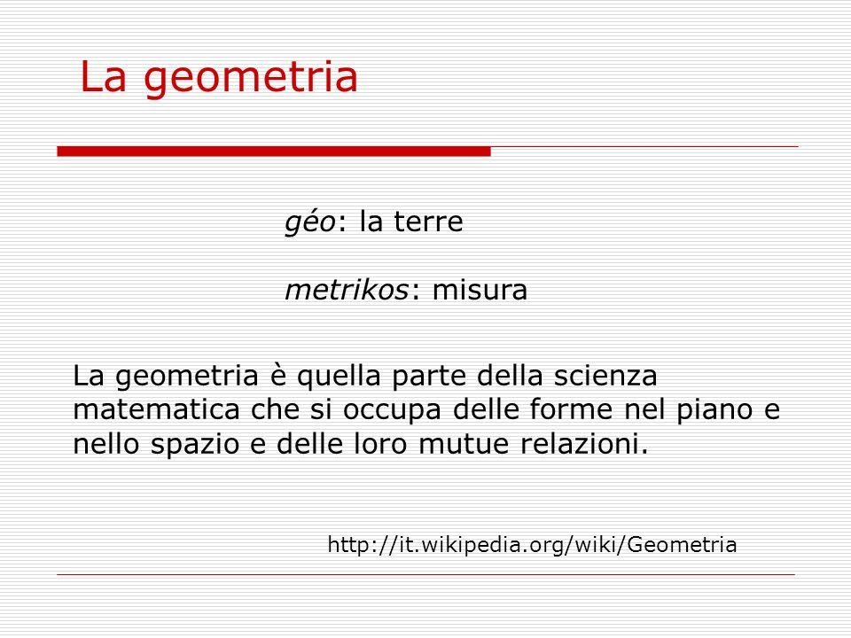La geometria géo: la terre metrikos: misura