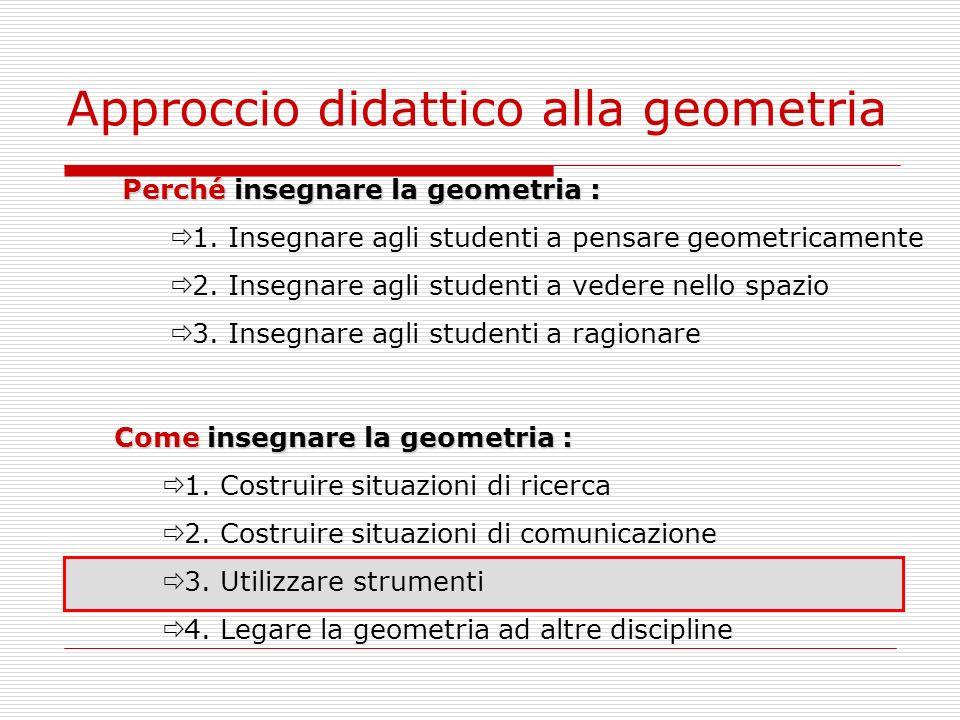 Approccio didattico alla geometria