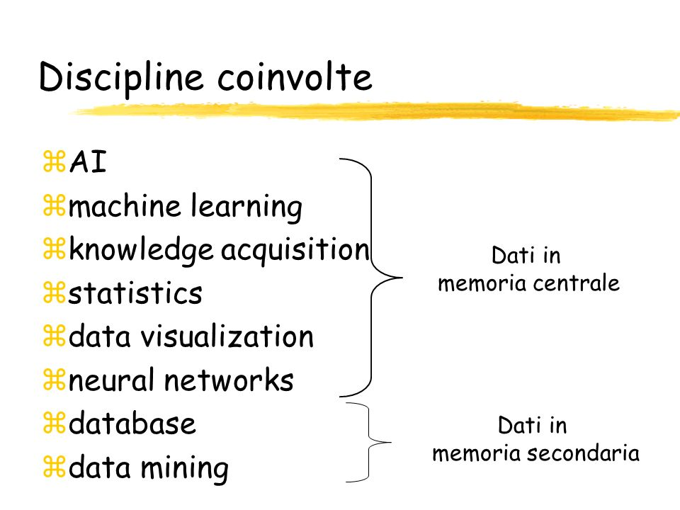 Discipline coinvolte AI machine learning knowledge acquisition