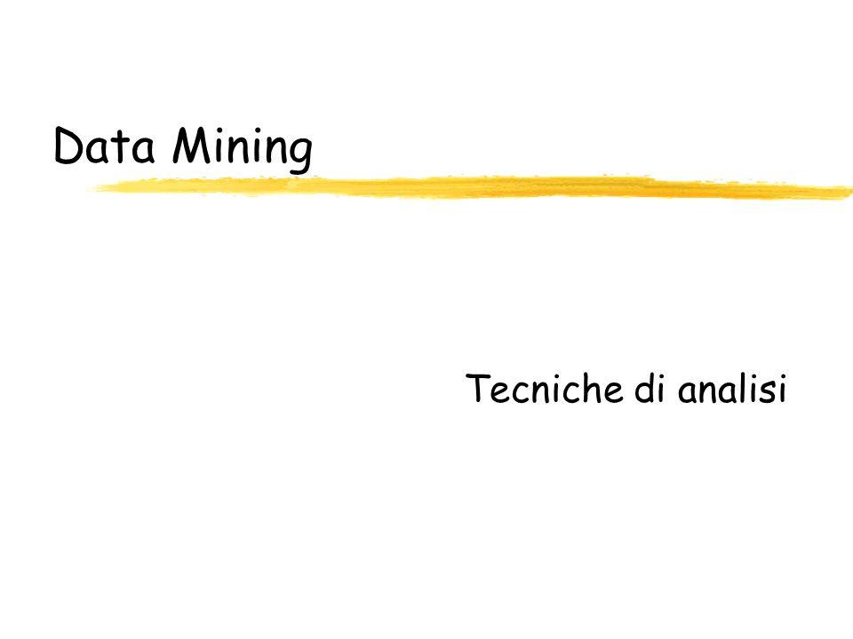 Data Mining Tecniche di analisi