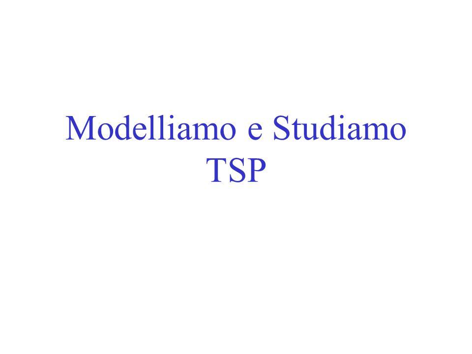 Modelliamo e Studiamo TSP
