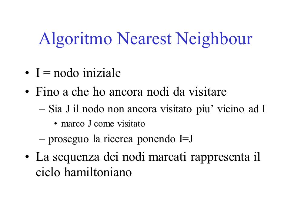 Algoritmo Nearest Neighbour